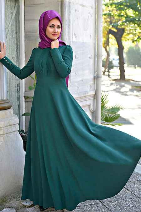 Minel Aşk Tesettür Nervürlü Elbise Modelleri
