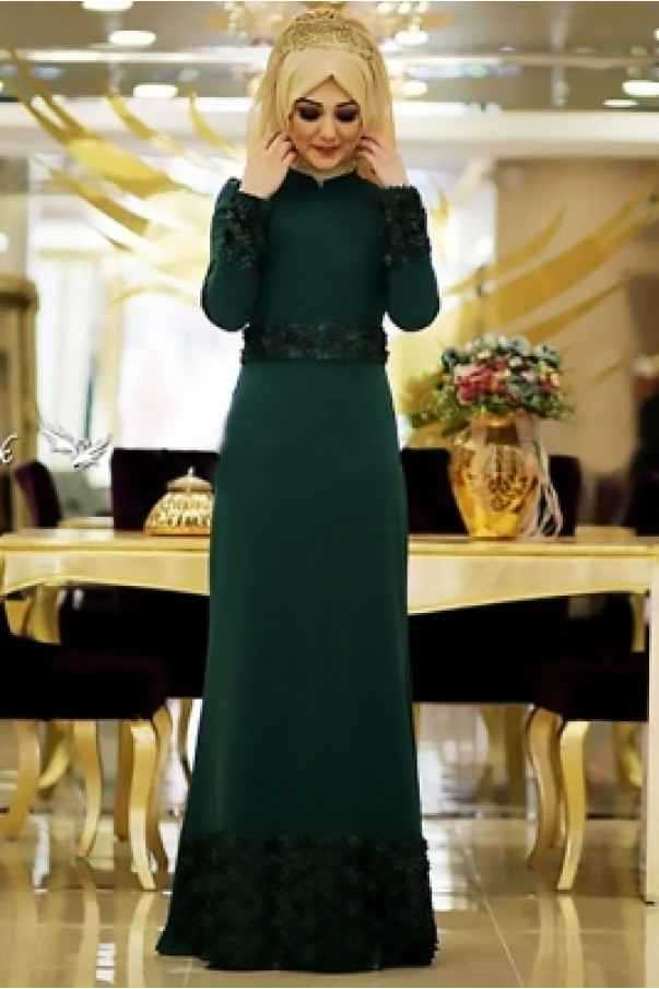 Minel Aşk Tesettür Zümrüt Elbise Modelleri