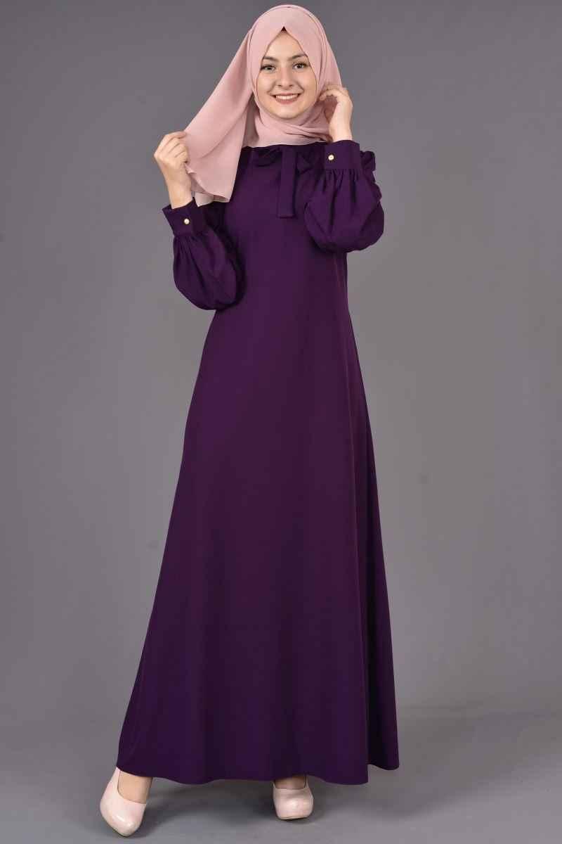 Modamerve Tesettür Elbise Büzgülü Modelleri