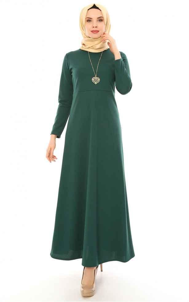 Modaminem Kolyeli Tesettür Elbise Modelleri