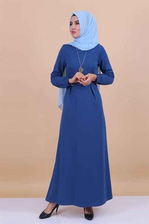 Modaperiy Şık Kolyeli Tesettür Elbise Modelleri