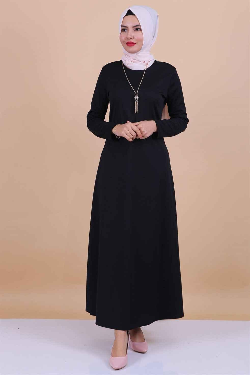 Modaperiy Kolyeli Tesettür Elbise Modelleri