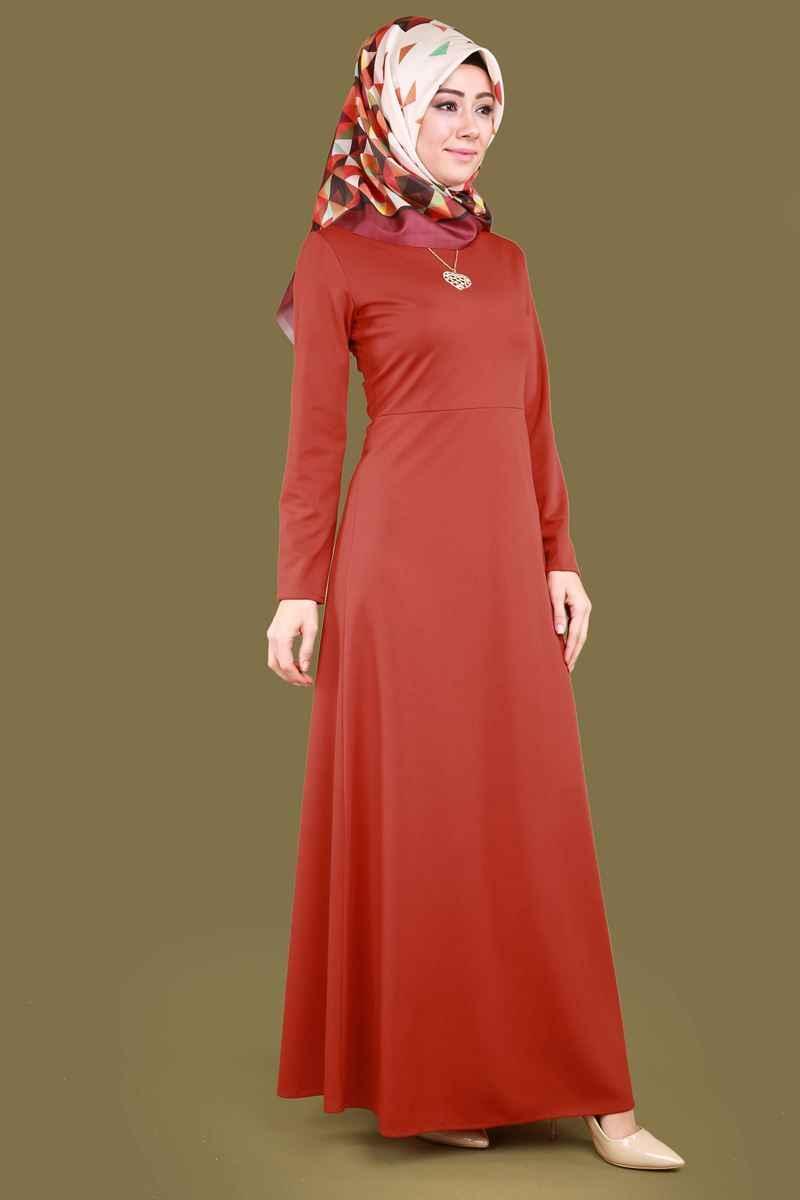 Modaselvim Şık Tesettür Kolyeli Elbise Modelleri