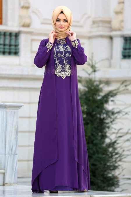 Modern Neva Style Tesettür Abiye Elbise Modelleri
