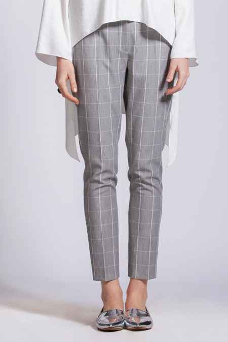 Modgrey Ekose Dar Paça Pantolon Modelleri