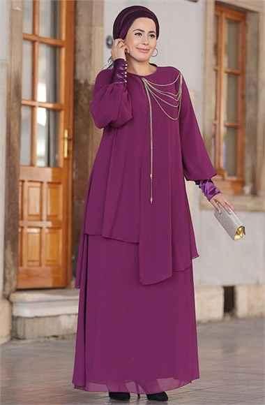 Nesrin Emniyetli Zincirli Abiye Elbise Modelleri