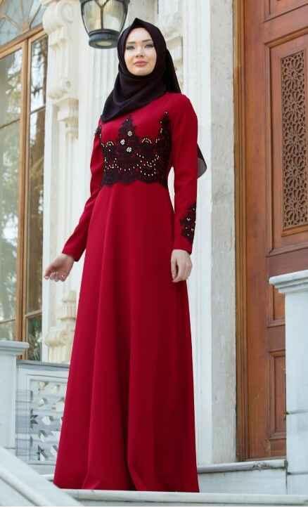 Neva Style İşlemeli Tesettür Abiye Elbise Modelleri