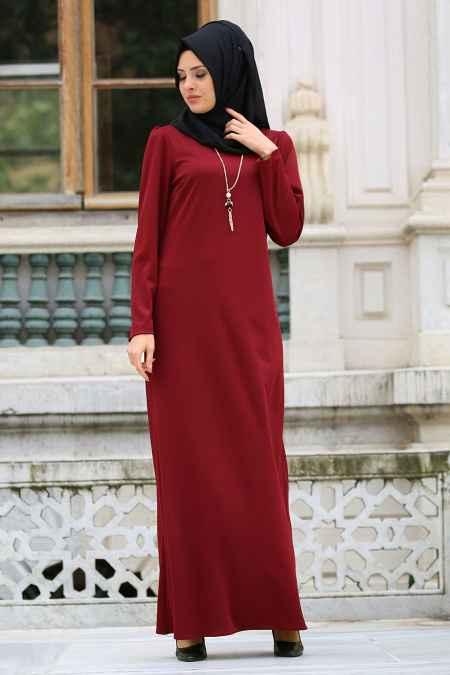 Neva Style Şık Tesettür Kolyeli Elbise Modelleri