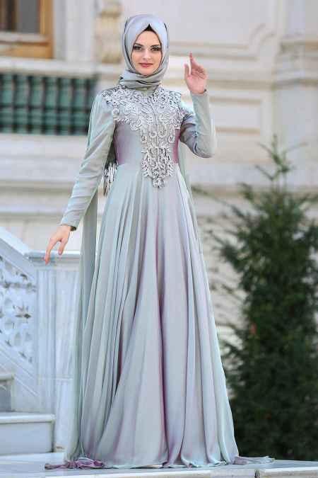 Neva Style Dantelli Tesettür Abiye Elbise Modelleri