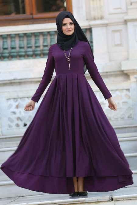 Neva Style Kolyeli Tesettür Elbise Modelleri