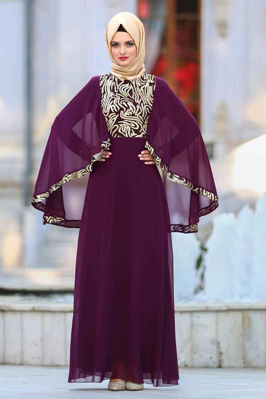 Neva Style Payetli Tesettür Abiye Elbise Modelleri