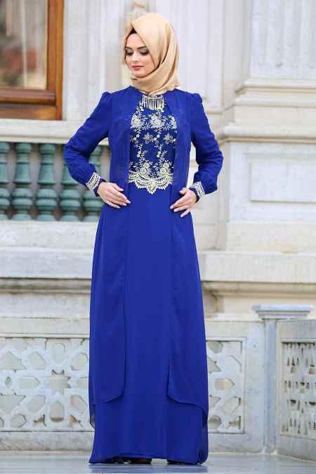 Neva Style Sax Tesettür Abiye Elbise Modelleri