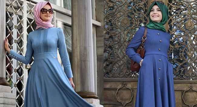 Pınar Şems & Minel Aşk Tesettür Mavi Renk Kombinleri