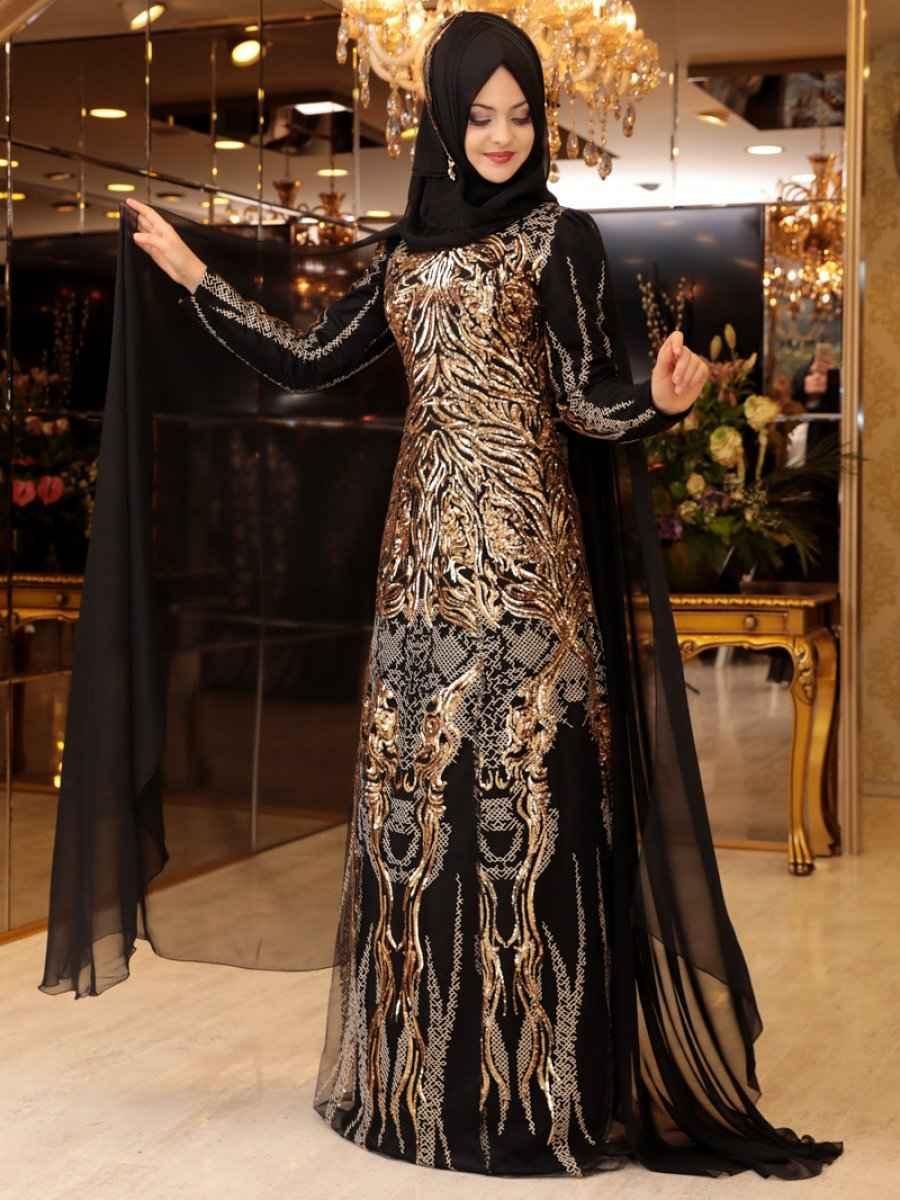 Pınar Şems Tesettür Gold Rengi Modası