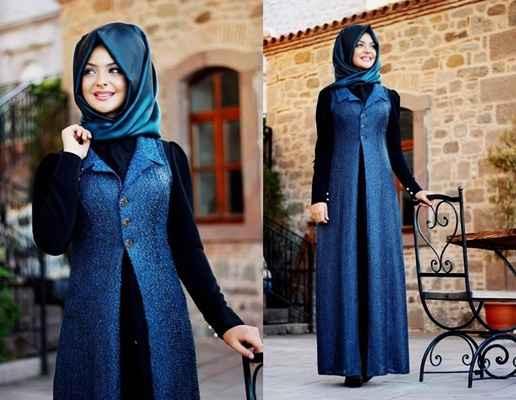 Pınar Şems Tesettür Mavi Renk Modası