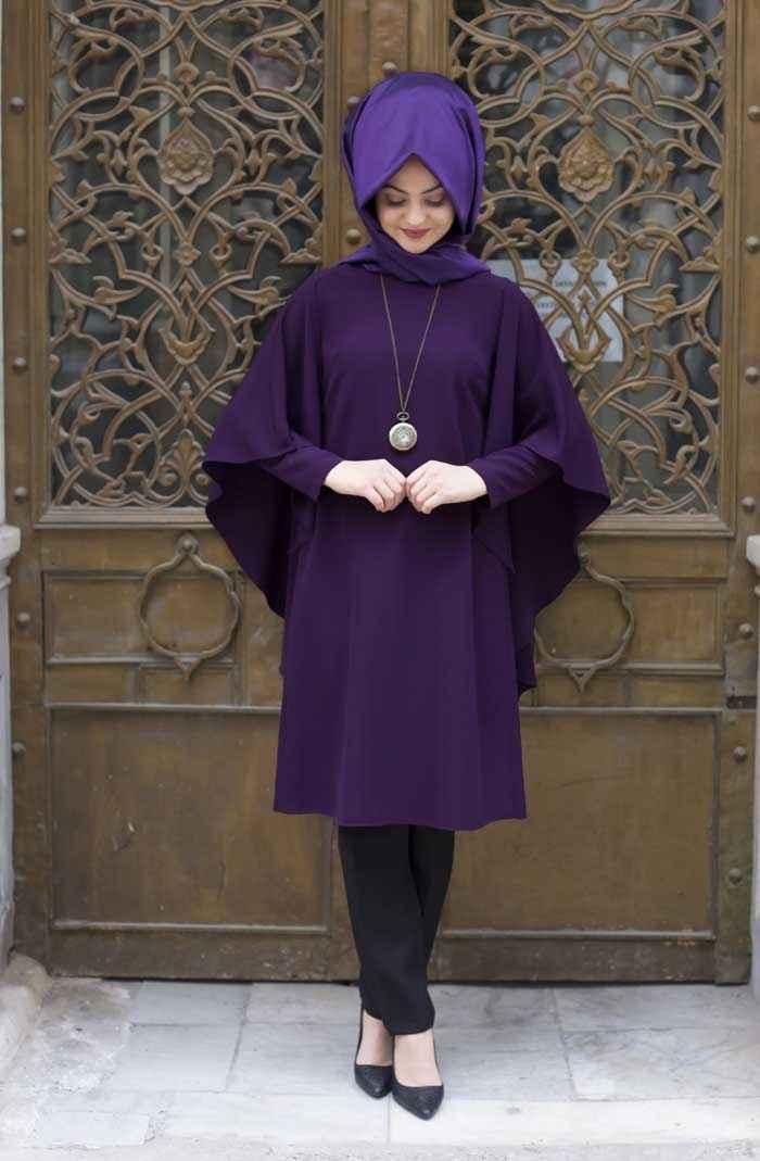 Pınar Şems Tesettür Yarasa Kol Tunik Modelleri