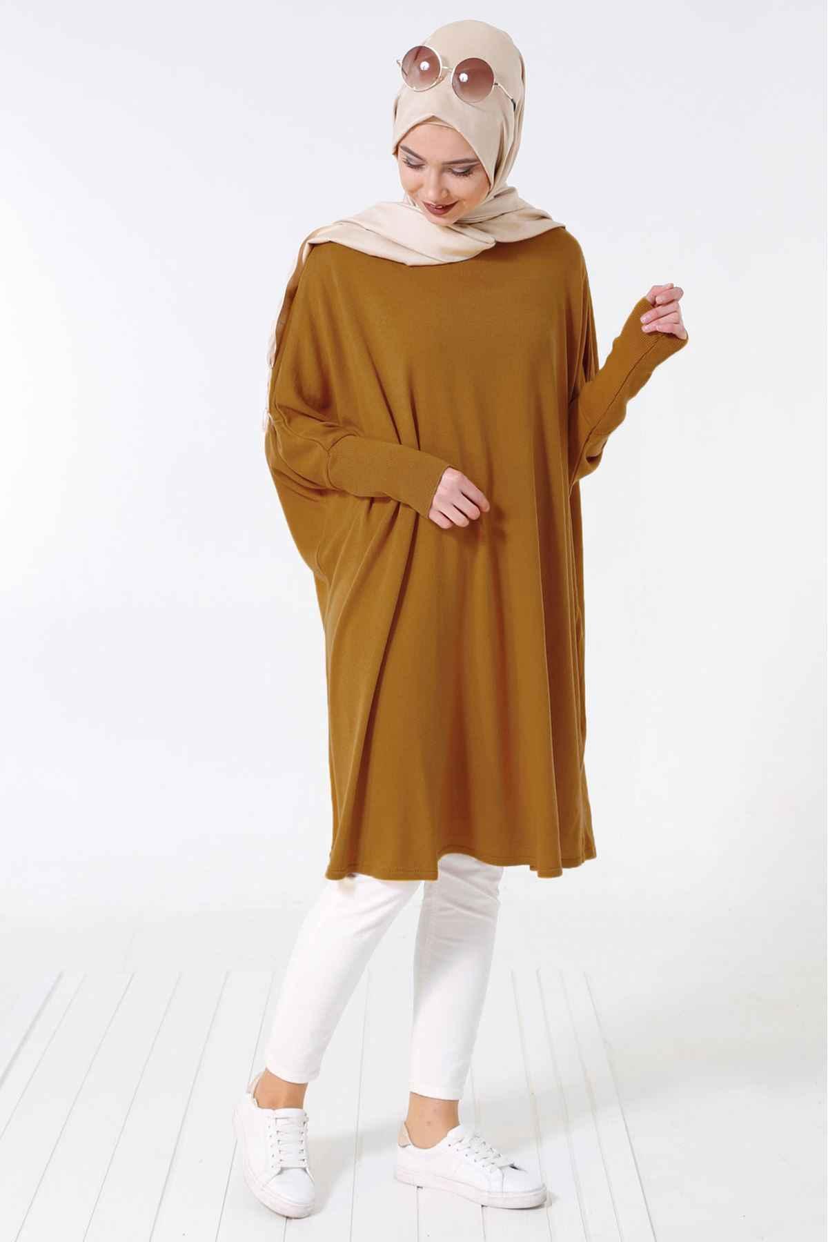 Patırtı Tesettür Yarasa Kol Tunik Modelleri