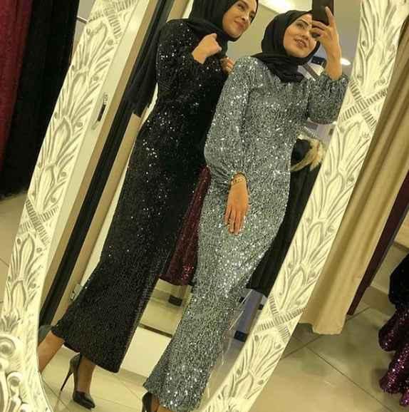 Pullu 2019 Tesettür Abiye Elbise Modelleri