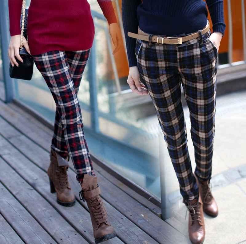 Renkli Ekose Pantolon Modelleri