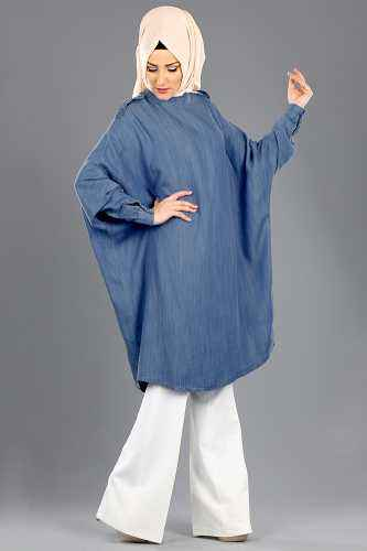 Sahranur Tesettür Yarasa Kol Tunik Modelleri