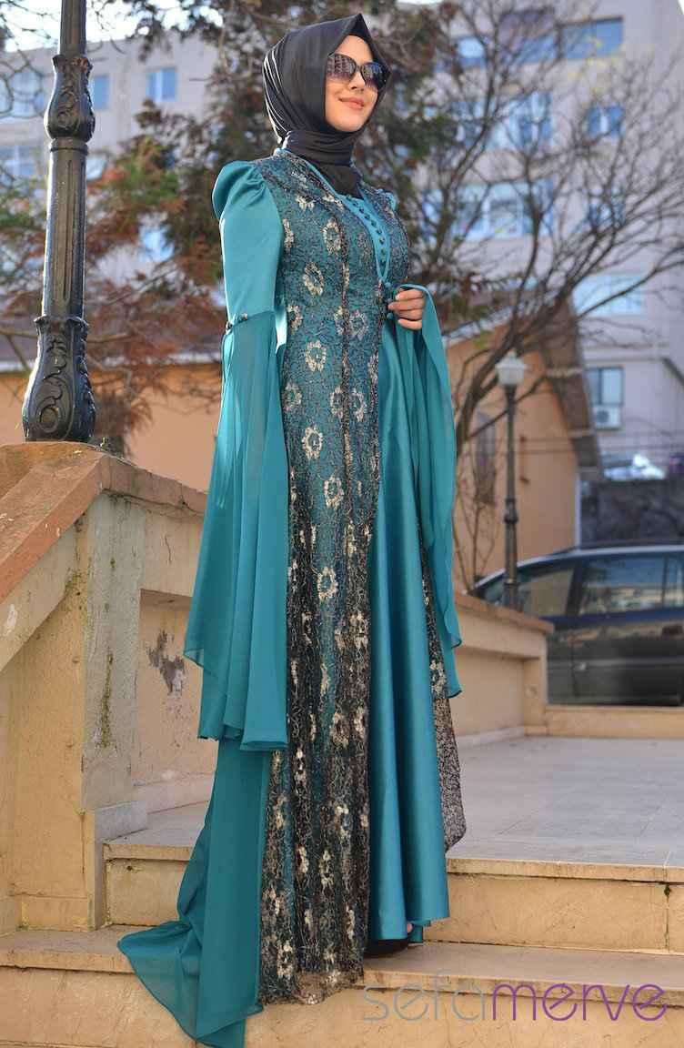 Sefamerve Şık Tesettür Hürrem Abiye Elbise Modelleri
