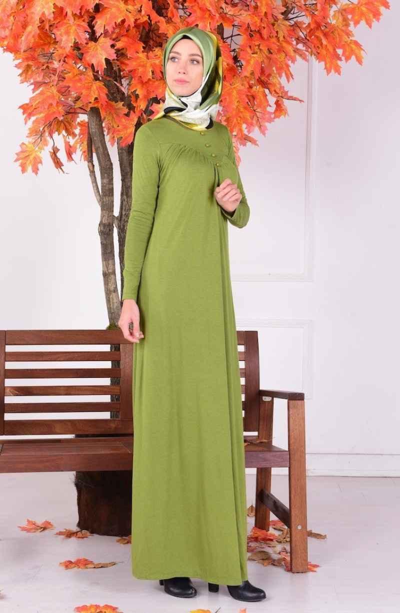 Sefamerve Şık Tesettür Yünlü Elbise Modelleri