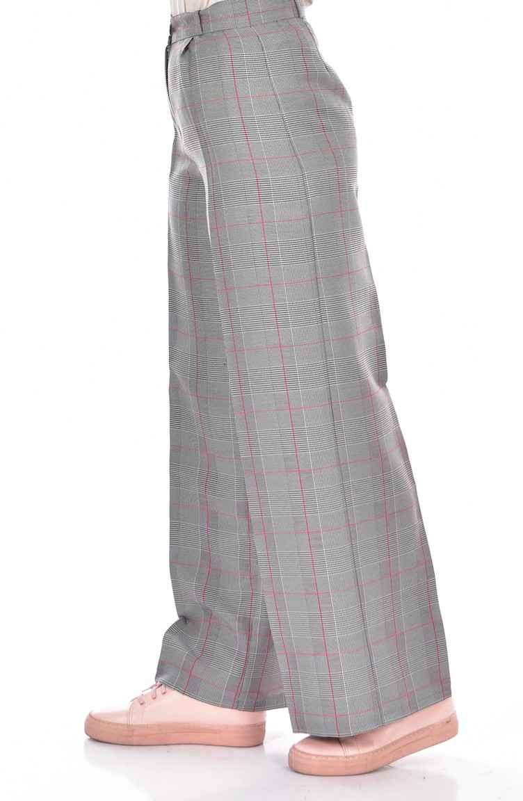 Sefamerve Pile Detaylı Ekose Pantolon Modelleri