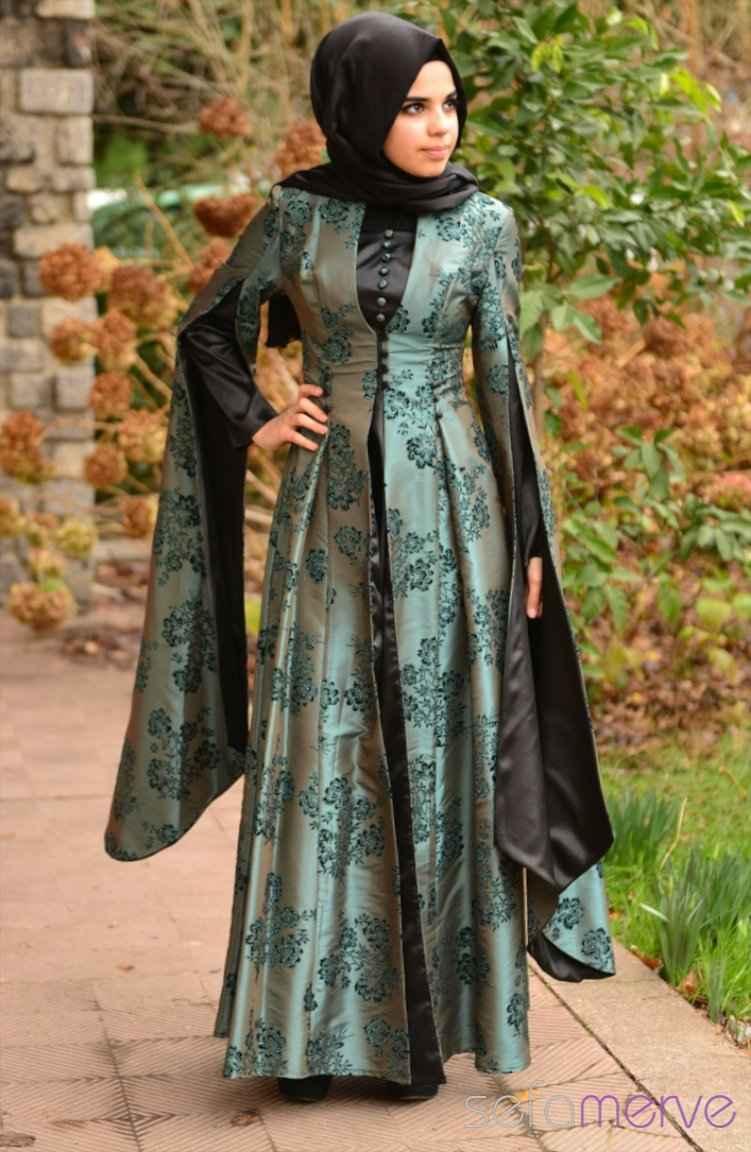 Sefamerve En Şık Tesettür Hürrem Abiye Elbise Modelleri