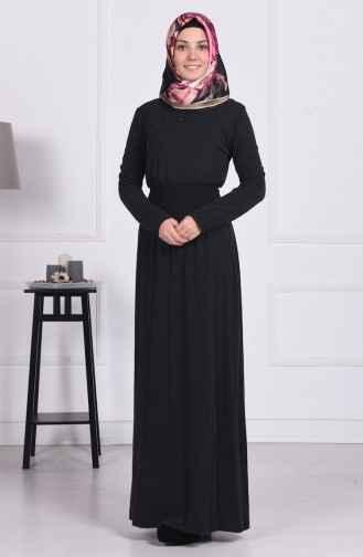 Sefamerve Tesettür Yünlü Viskon Elbise Modelleri