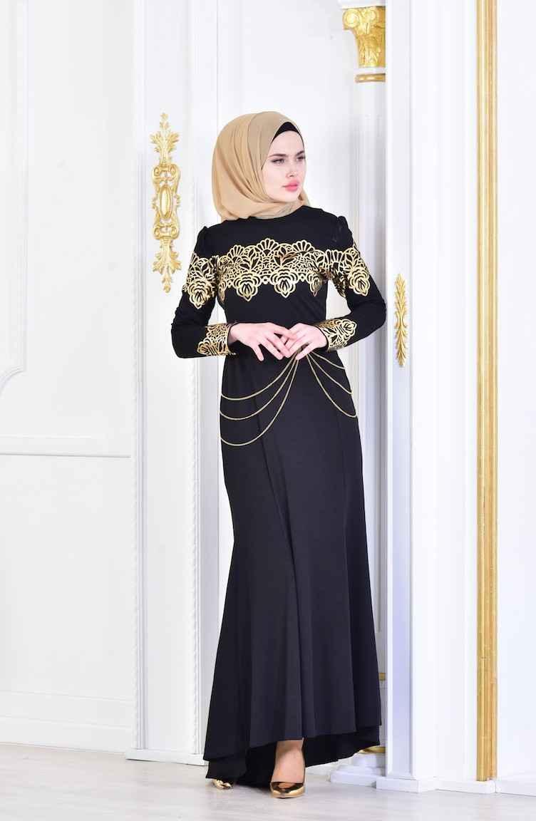 Sefamerve Zincirli Abiye Elbise Modelleri