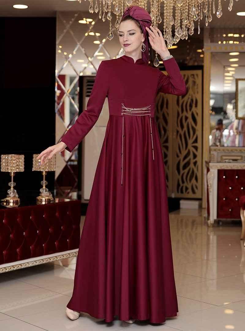 Selma Sarı Zincirli Abiye Elbise Modelleri