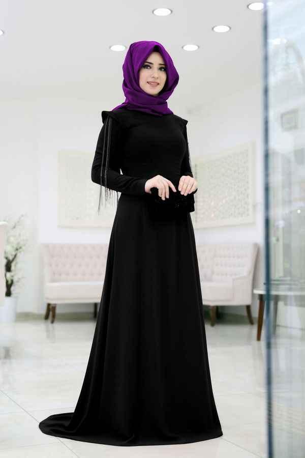 Som Fashion Tesettür Zincirli Abiye Elbise Modelleri