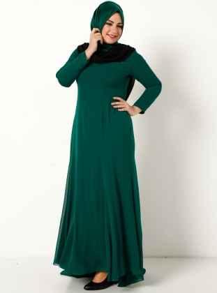 Tesettür Dökümlü Elbise Modelleri