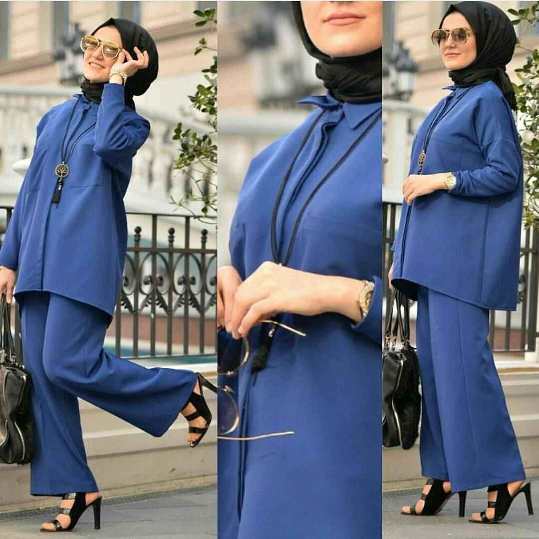 Tesettürde Mavi Renk Modası