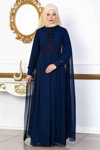 Yeni Sezon Şık Tesettür Abiye Elbise Modelleri