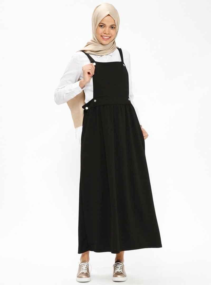 İlmek Triko Tesettür Salopet Elbise Modelleri