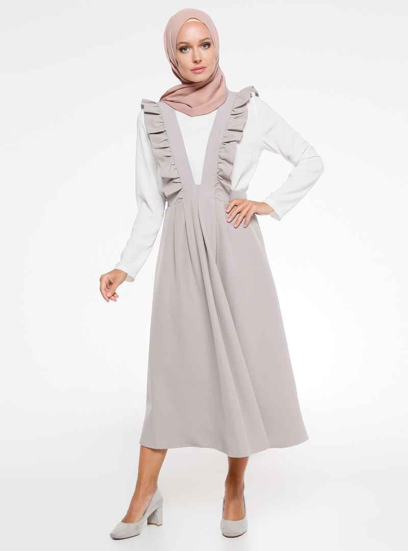 İroni Tesettür Salopet Elbise Modelleri