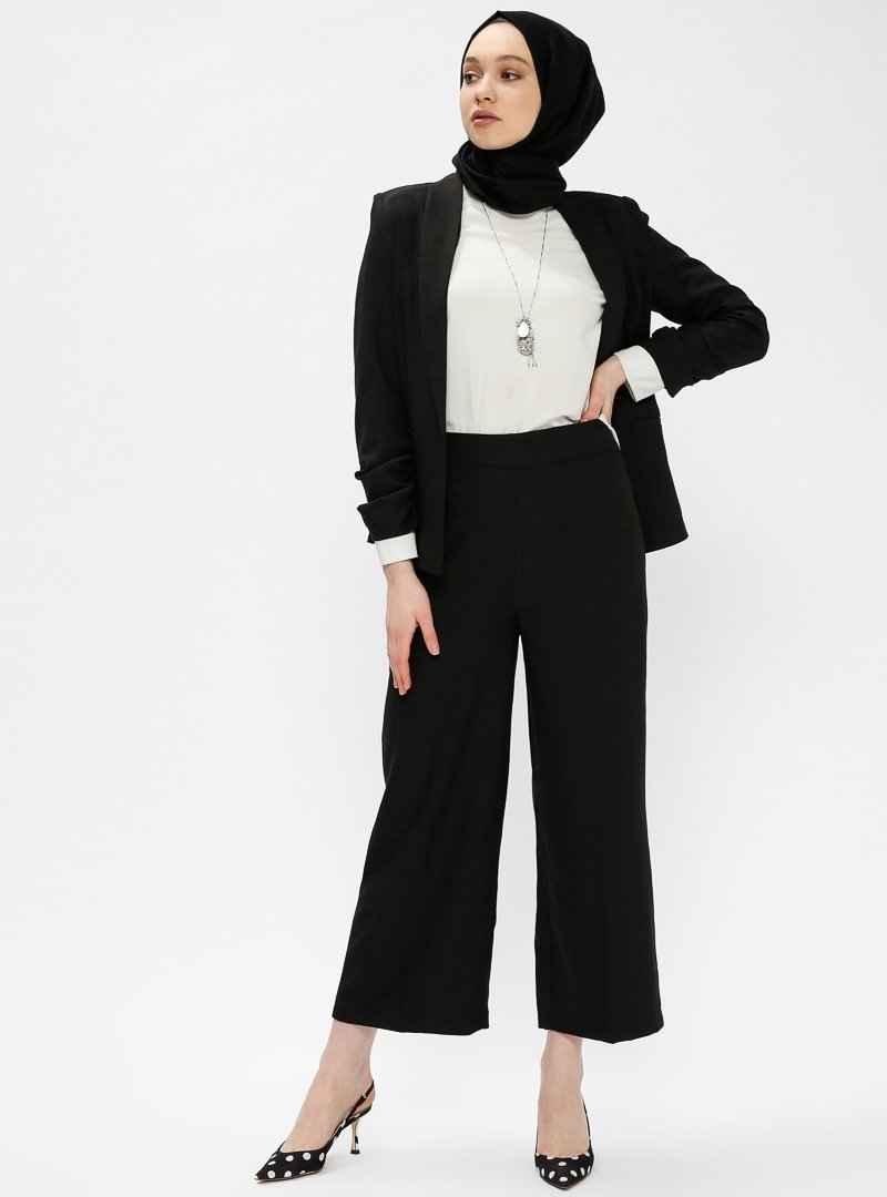 İroni Yüksek Bel Tesettür Pantolon Modelleri