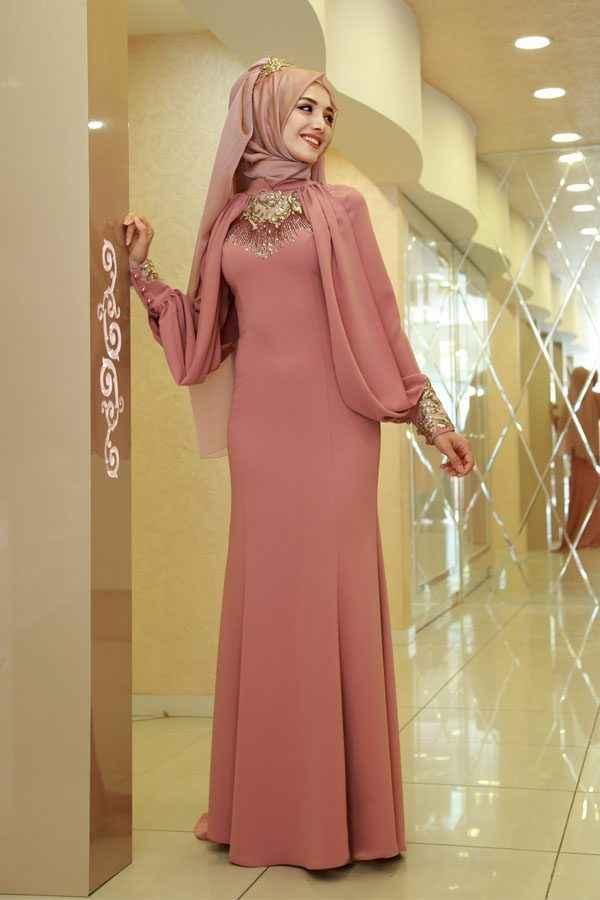 eb6dbec7850fc Şık ve Özel Tesettür Söz Elbisesi Modelleri - Moda Tesettür Giyim