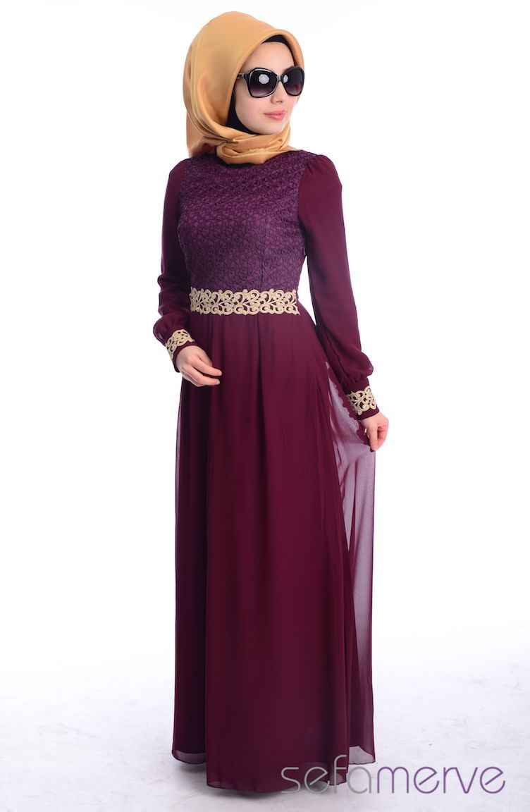 Şık ve Güzel Sefamerve Tesettür Elbise Modelleri