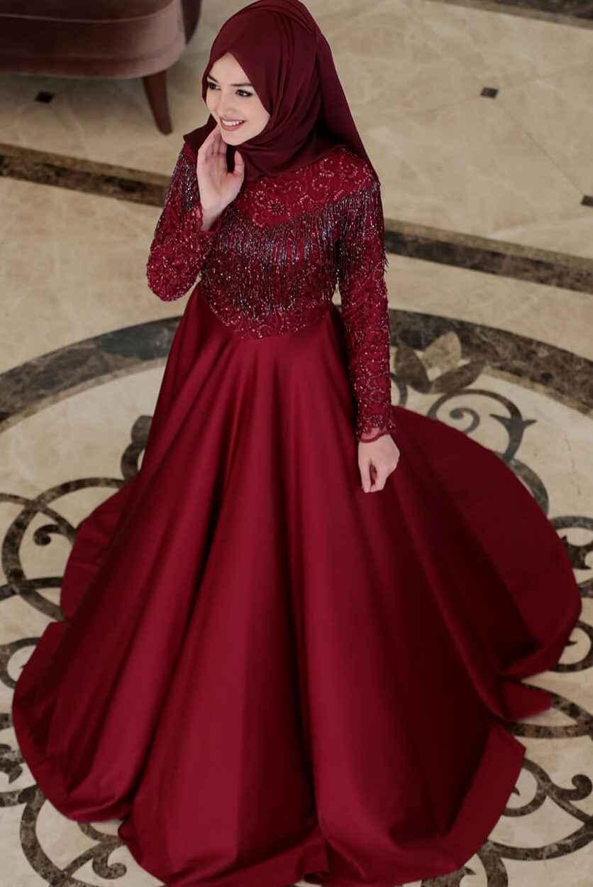 4c74e190fe478 Şık ve Modern Tesettür Söz Elbisesi Modelleri - Moda Tesettür Giyim