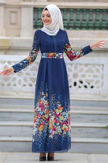 2018-2019 Neva Style Tesettür Elbise Modelleri