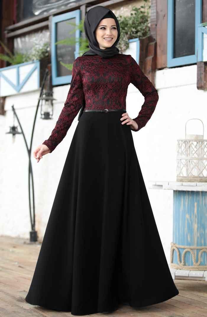 Al-Marah İmge Desenli Elbise Modelleri