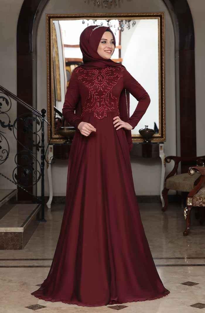 Al-Marah Ahenk Bordo Abiye Modelleri