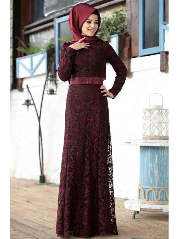 Al Marah Tesettür Bordo Renk Modası