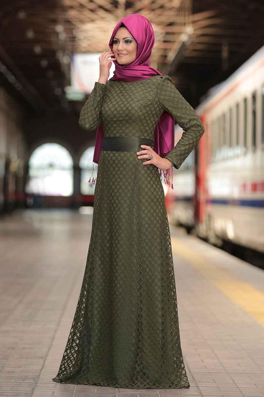Al Marah Tesettür Haki Renk Modası