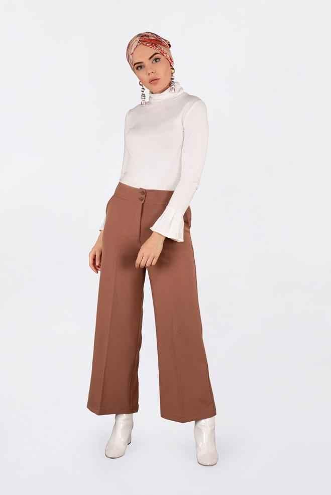 Alvina Yüksek Bel Tesettür Pantolon Modelleri