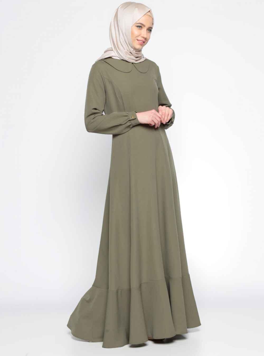Beha Bebe Yaka Tesettür Elbise Modelleri
