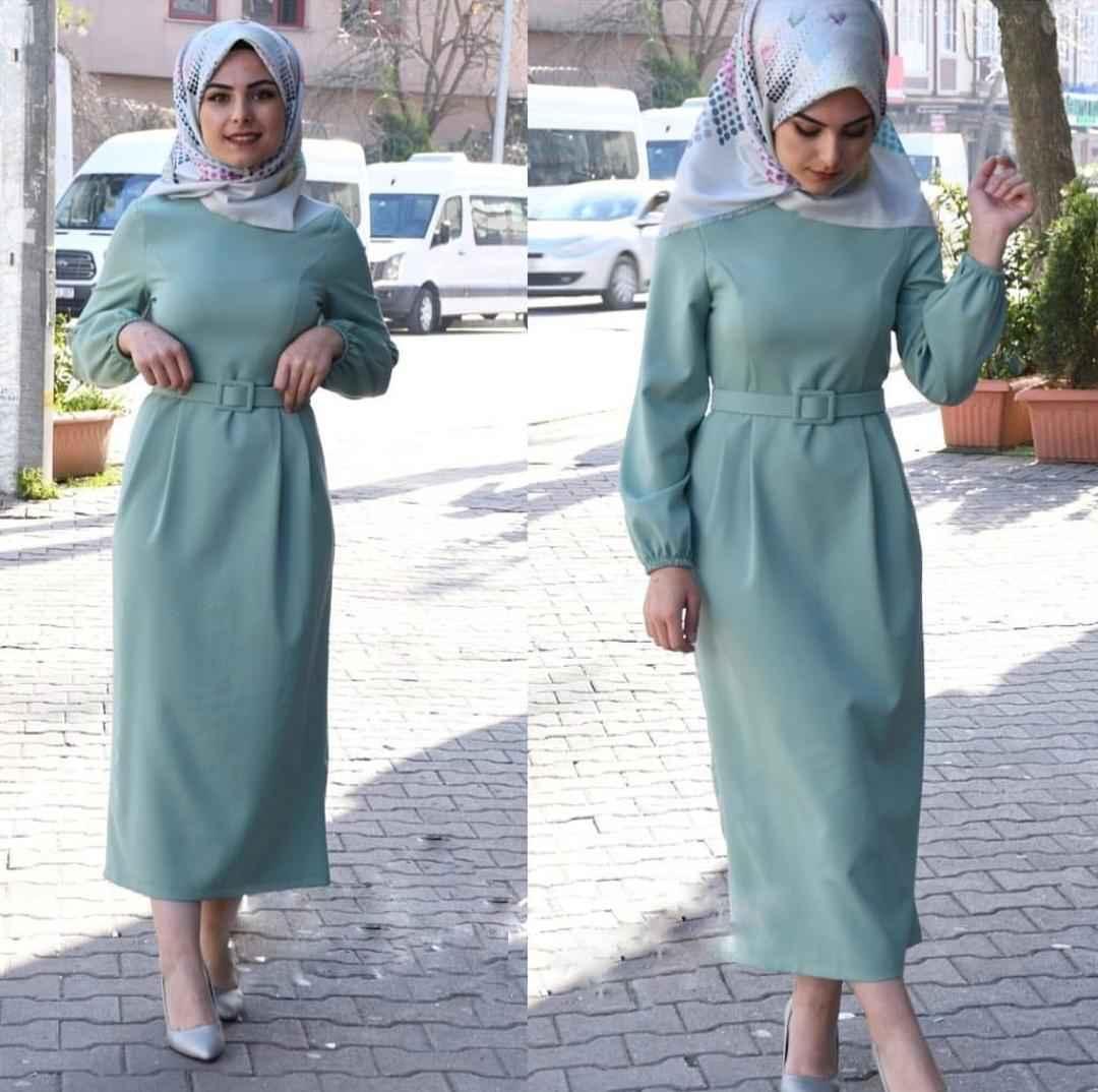 Elfida Tesettür Kalem Elbise Modelleri