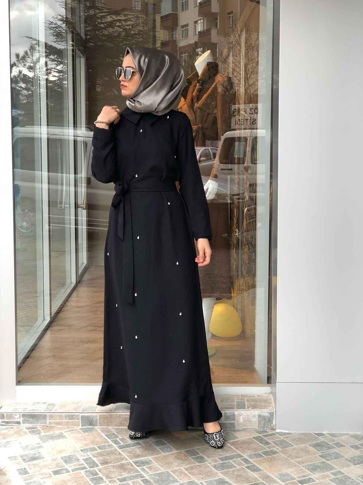 Elfida Tesettür Taşlı Elbise Modelleri